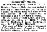 EWS' bankruptcy was
